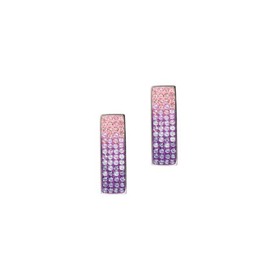 Стилни обеци с кристали Swarovski и висококачествена стомана Twillight Collection