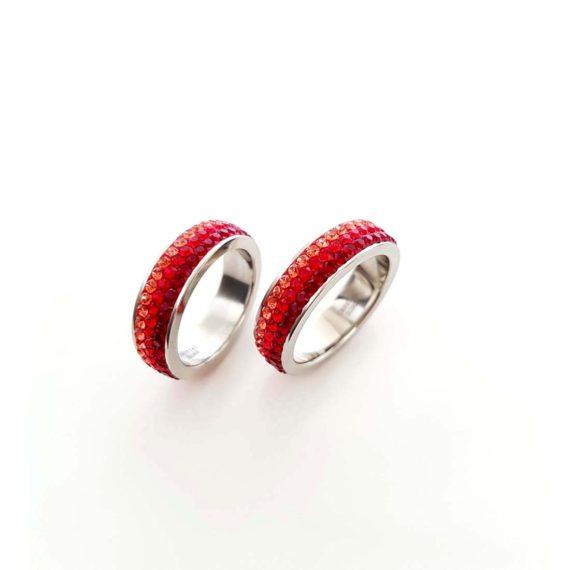 Красив пръстен с кристали Swarovski и висококачествена стомана Twillight Collection