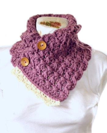 Топъл и красив шал - яка в лилав цвят