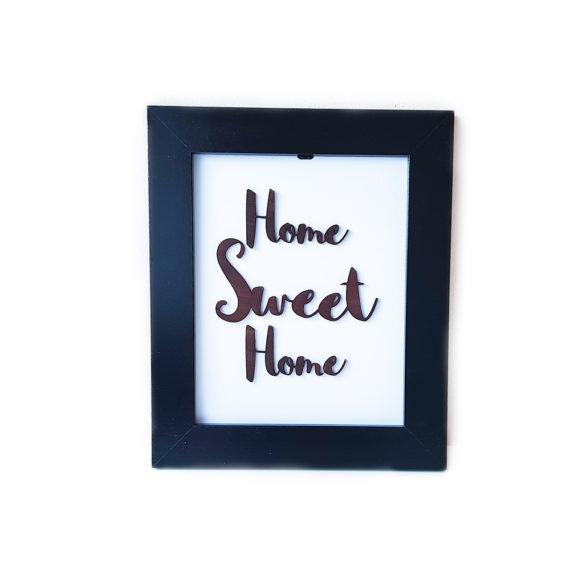 Дървена рамка с надпис Home Sweet Home