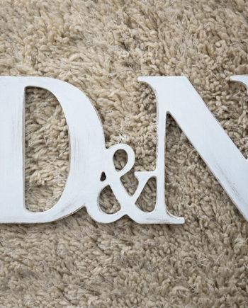 Дървени обемни букви - инициали