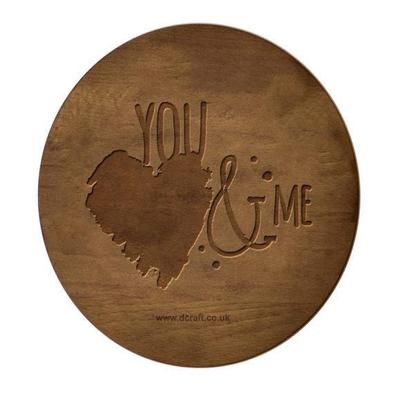 Дървен поднос/дъска за рязане You&Me