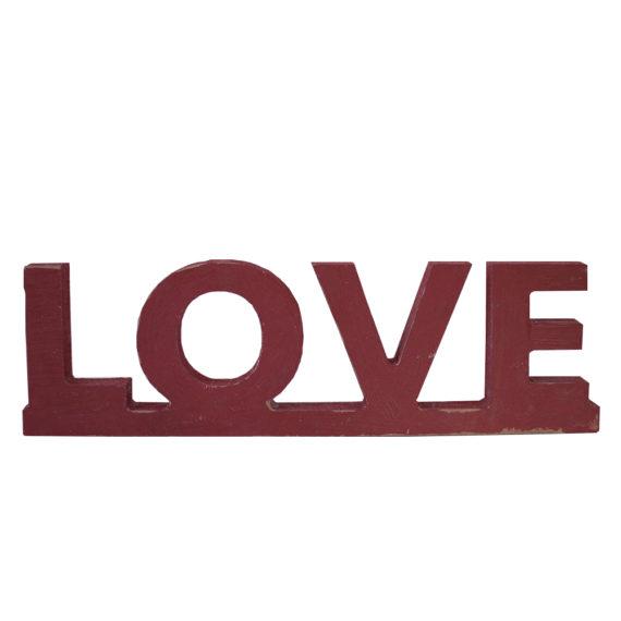 Дървени обемни букви - надпис Love
