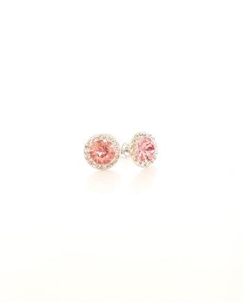 Нежни обеци сребро и кристали Сваровски Vintage Rose