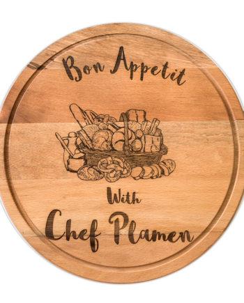 Дървен поднос/дъска за рязане Bon Appetit