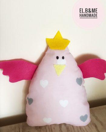 """Детска играчка """"Пиленце"""" с жълт клюн и розови крила"""