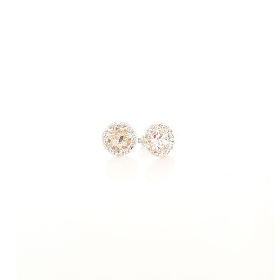 Нежни обеци сребро и кристали Сваровски Crystal