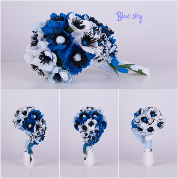 Красив и стилен букет Blue Sky