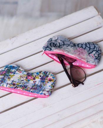 Калъф за очила в свежи цветове и десени