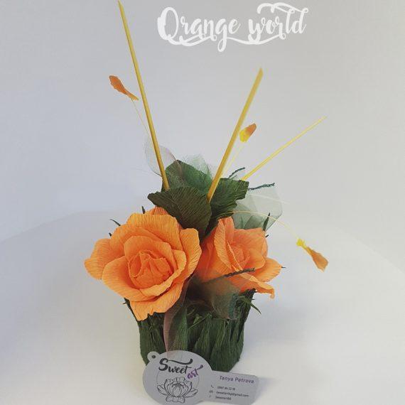 Страхотна композиция от хартия и бонбони Orange world