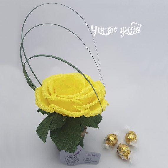 Оригинална и стилна композиция от хартия и бонбони You Are Special