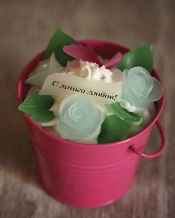 Стилна и красива кофичка с цветя