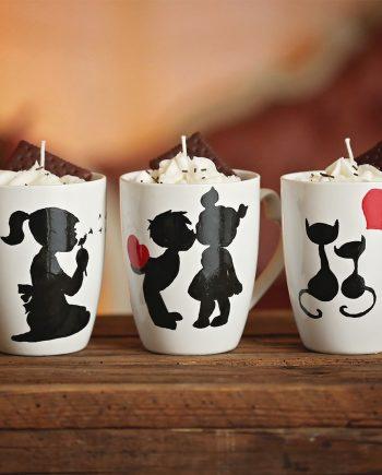 Красиви ръчно рисувани чаши