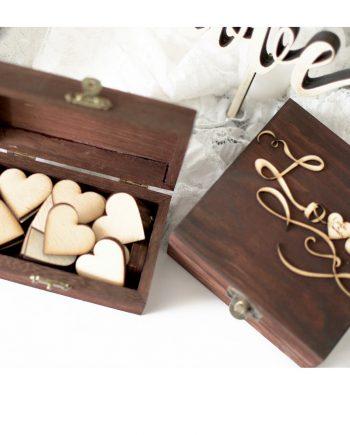 Прекрасен комплект от две кутийки за сватбено тържество