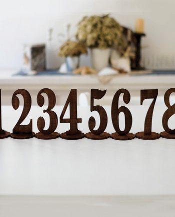 Номера за маса за Вашето стилно сватбено тържество