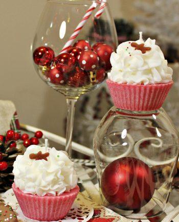 Свеж Коледен мъфин в различни аромати и цветове
