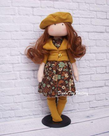 Симпатична кукла за гушкане ТИЛДА в жълто