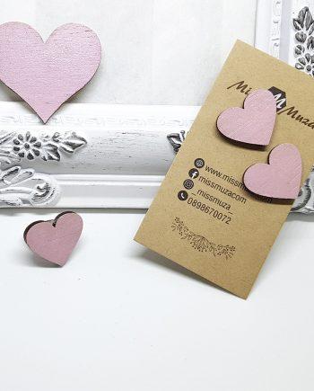 """Стилен комплект """"Сърце"""", брошка, пръстен и обеци"""