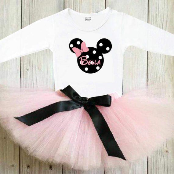 Туту комплект в бледо розово и черна панделка