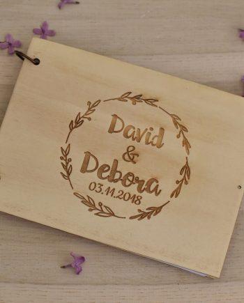 Сватбен дървен албум за снимки