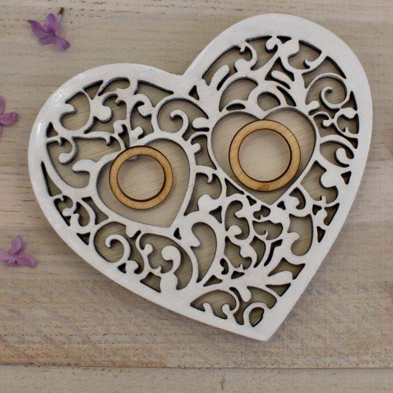 """Кутия за пръстени """"Сърце"""""""