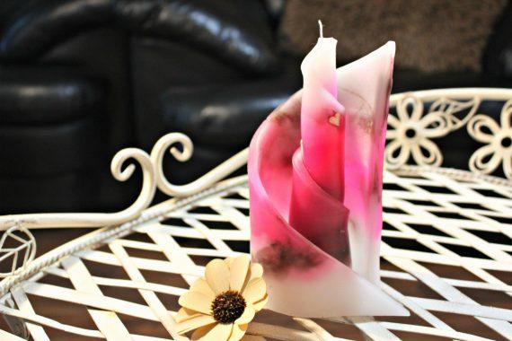 Декоративна ароматна свещ Спирала