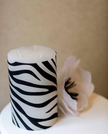 Голяма свещ ДОННА зебра