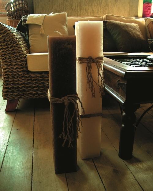 Голяма свещ АНДИ въжета/кафява