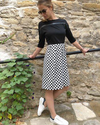 "Дaмска рокля ""Chess Elegance"""