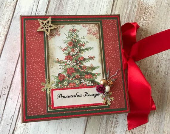 Коледен албум 17/17 см за около 60-70 снимки