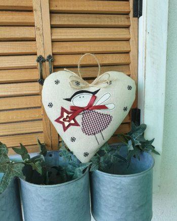 """Висящ орнамент """"Коледно сърце 1"""""""