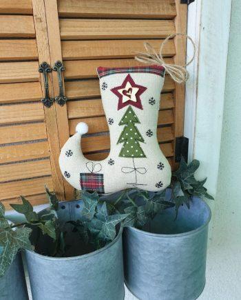 """Висящ орнамент """"Коледен чорап"""""""