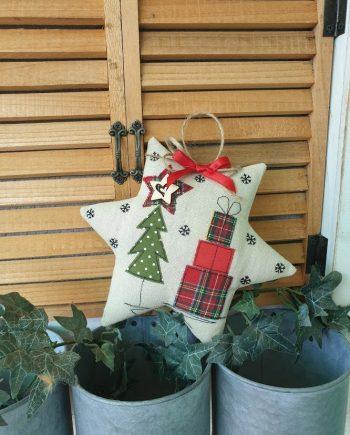 """Висящ орнамент """"Коледна звезда"""""""