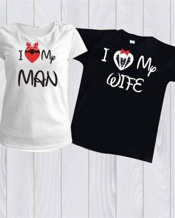 Комплект две тениски I LOVE.
