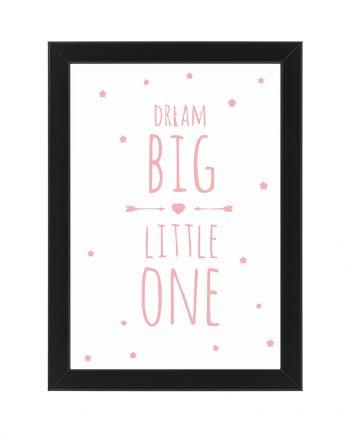 Постер Dream Big бял фон