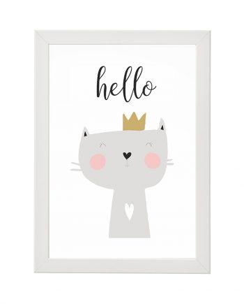 Постер Hello с котенце