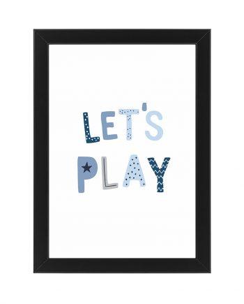 Постер Lets play, бял фон