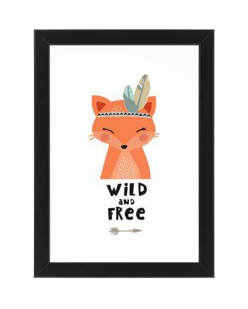 Постер Лисичка Wild and free
