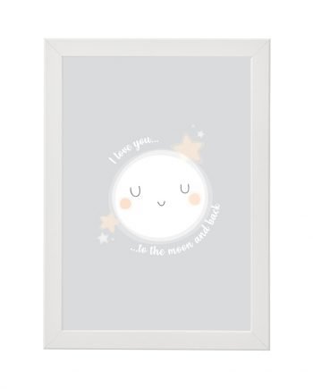 Постер Луна бяла