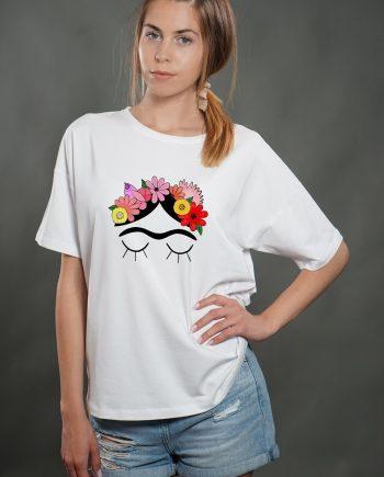 """Тениска """"Фрида"""" в бял цвят"""