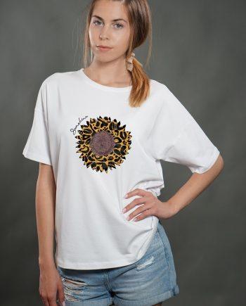 """Тениска """"Sunshine"""" в бял цвят"""