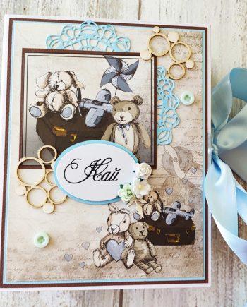 Прекрасен бебешки дневник във винтидж стил