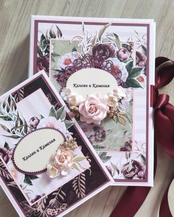 Луксозен подаръчен комплект - албум с картичка