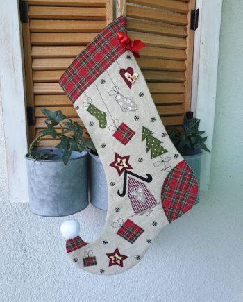 Коледен чорап за лакомства – висяща декорация