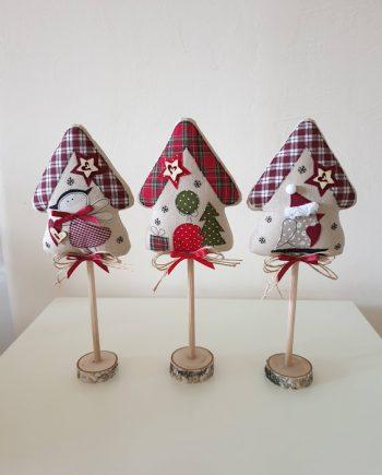 Коледни къщички - седяща декорация