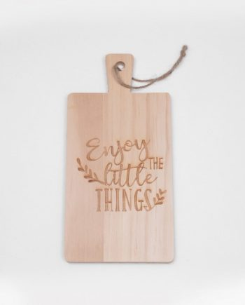 """Мини дъска за рязане """"Радвай се на малките неща"""""""