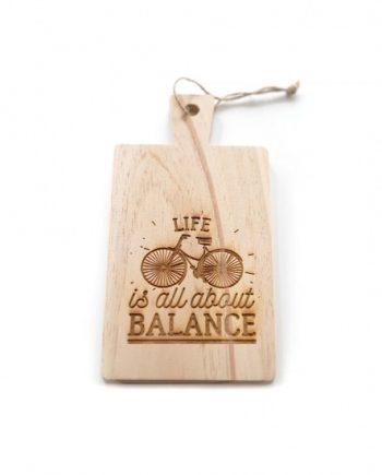 """Дъска за рязне """"Живота е баланс"""""""