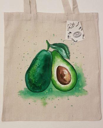 """Рисувана текстилна торба """"Авокадо"""""""