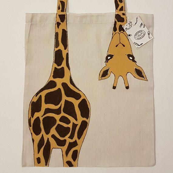 """Рисувана текстилна торба """"Жираф"""""""