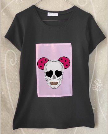 """Тениска """"Череп"""" в черен цвят"""
